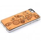 "Apple iPhone 5s ""Crafted Cover"" Mehānisms ar kristāliem dabīga koka telefona apvalks"