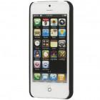 Apple iPhone SE (5, 5s) klasisks melns matēts apvalks