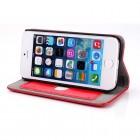 Apple iPhone 5S solīds atvēramais ādas sarkans maciņš