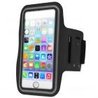 Apple iPhone 6 Plus futrālis sportam (rokas saite) - melns, universāls (XL+ izmērs)