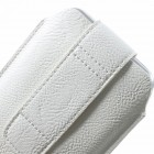 Apple iPhone 6 Plus universāls aizverams balts maciņš, ar kabatiņu kartem ielikt un iespēju piestiprināt pie siksnas (XL+ izmērs)