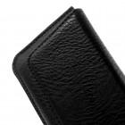 Apple iPhone 6 Plus universāla aizverama melna ieliktņa iespēju piestiprināt pie siksnas (XL+ izmērs)