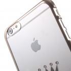 Apple iPhone 6S Plus elegants X-Fitted Crystal T Crown Swarovski dzidrs (caurspīdīgs) zelta plastmasas apvalks ar kristāliem