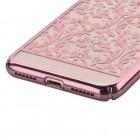 Apple iPhone 7 Plus (iPhone 8 Plus) elegants Devia Crystal Baroque Swarovski dzidrs (caurspīdīgs) rozs plastmasas apvalks ar kristāliem / Piederumi.lv