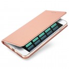 """Apple iPhone 7 Plus (iPhone 8 Plus) """"Dux Ducis"""" Skin sērijas rozs ādas atvērams maciņš"""