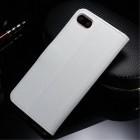 Apple iPhone 7 Plus atvēramais ādas balts maciņš (maks)