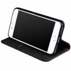 "Apple iPhone 7 Plus (iPhone 8 Plus) ""Deluxe"" ādas atvēramais melns maciņš (maks)"