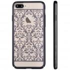Apple iPhone 7 Plus (iPhone 8 Plus) elegants Devia Crystal Baroque Swarovski dzidrs (caurspīdīgs) melns plastmasas apvalks ar kristāliem