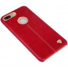 "Apple iPhone 7 Plus (iPhone 8 Plus) ""Nillkin"" Englon sarkans ādas apvalks"