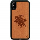 "Apple iPhone X (iPhone Xs) ""Crafted Cover"" Vytis dabīga koka telefona apvalks"
