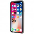 Soft Slim Apple iPhone X (iPhone Xs) pelēks ādas apvalks