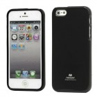 Apple iPhone 5, 5S Mercury Color melns cieta silikona (TPU) futrālis