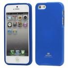 Apple iPhone 5, 5S Mercury Color zils cieta silikona (TPU) futrālis