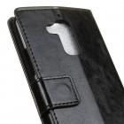 Asus Zenfone 3 Max (ZC520TL) atvēramais ādas melns maciņš (maks)