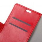Asus Zenfone 3 Max (ZC520TL) atvēramais ādas sarkans maciņš (maks)