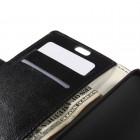 Asus Zenfone C 4.5 (ZC451CG) atvēramais ādas melns maciņš (maks)