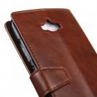 Asus Zenfone Max (ZC550KL) atvēramais ādas brūns maciņš (maks)