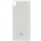 Sony Xperia XA Mercury baltas kieto silikono tpu dėklas - nugarėlė