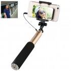 """""""Benks"""" teleskopiskais selfija zelta statīvs-turētājs – monopod"""
