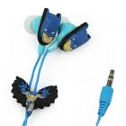 """Rotaļīgas """"Betmena"""" ausīs ieliekamās zilā austiņas"""