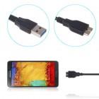 Melns micro USB 3.0 vads (1 m)