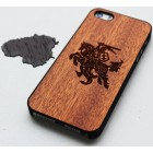 "Apple iPhone 5 (5s, SE) ""Crafted Cover"" Vytis dabīga koka telefona apvalks"