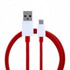 "Oficiāls ""OnePlus"" Fast Charging USB Type-C sarkans vads 1 m. (D301, origināls)"