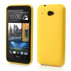 HTC Desire 601 Jelly Case dzeltens cieta silikona (TPU) futrālis