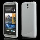 HTC Desire 610 balts cieta silikona futrālis