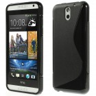 HTC Desire 610 cieta silikona (TPU) melns apvalks