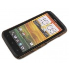 HTC One X plastmasas gaiša koka apvalks