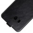 HTC U11 un HTC U11 Dual klasisks ādas vertikāli atvēramais melns maciņš
