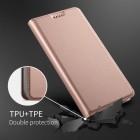HTC U12 Plus Solīds rozs ādas atvērams maciņš
