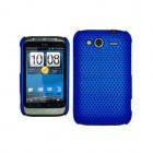 HTC Wildfire S tīkliņa formas zils apvalks