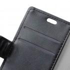 Huawei Honor 7C atvēramais ādas melns maciņš (maks)