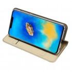 """Huawei Mate 20 Pro """"Dux Ducis"""" Skin sērijas zelta vādas atvērams maciņš"""
