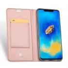 """Huawei Mate 20 Pro """"Dux Ducis"""" Skin sērijas rozs vādas atvērams maciņš"""