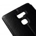 """Huawei Mate S melns atvēramais """"View Window"""" ādas maciņš"""