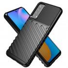 """Huawei P smart 2021 """"Rumble"""" cieta silikona (TPU) melns apvalks"""