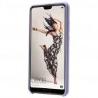 Huawei P20 Shell cieta silikona (TPU) apvalks - violeta