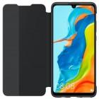 Oficiāls Huawei P30 Lite Smart View Flip Cover melns atvērams maciņš (maks)