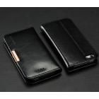 "Apple iPhone 5S ""Kalaideng"" Royale ādas atvēramais melns futrālis"