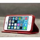 """Apple iPhone 5S """"Kalaideng"""" Royale ādas atvēramais sarkans futrālis"""