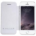 """Greznais """"Nillkin"""" Qin sērijas ādas atvērams balts Apple iPhone 5 (5s, SE) maciņš"""