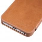 """Greznais """"Nillkin"""" Qin sērijas ādas atvērams brūns Apple iPhone 5 (5s, SE) maciņš"""