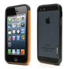 """Oranžā, pelēkā un melnā krāsās """"Walnutt"""" Trio cieta silikona Apple iPhone 5, 5S futrālis - rāmis (bamperis - sānu apmale)"""