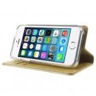 Mercury Blue Moon iPhone 5 / 5S atvērams zelta ādas maciņš