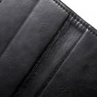 Mercury Blue Moon atverčiamas Apple Mercury Blue Moon iPhone 5 / 5S atvērams melns ādas maciņšle iPhone SE (5, 5s) juodas odinis dėklas - piniginė