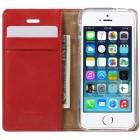 Mercury Blue Moon Apple iPhone 5 / 5S atvērams sarkans ādas maciņš