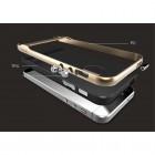 """""""Rock"""" Royce pastiprinātas aizsardzības melns apmales zeltā krāsā Apple iPhone 5 (5s, SE) apvalks"""